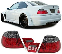 2 Feux Arriere A Led Red Black Bmw Serie 3 E46 Coupe Pack M 04/1999-03/2003