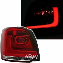 2 Feux Arriere Led Vw Polo 6r 6/2009 A 3/2014 Blanc Rouge Look R Line Barled