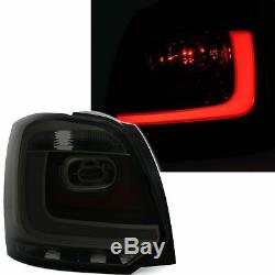 2 Feux Arriere Led Vw Polo 6r 6/2009 A 3/2014 Noir Rouge Style R Line Barled