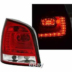 2 Feux Arriere Led Vw Polo 9n3 4/2005 A 5/2009 Blanc Rouge Style Polo 6r