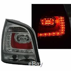 2 Feux Arriere Led Vw Polo 9n3 4/2005 A 5/2009 Noir Fume Style Polo 6r