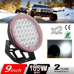 2x185W 9phare de travail 4D LED work light Rampe Feux Offroad 12V 24V Quad
