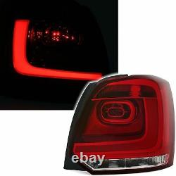 Feux Arriere Led Vw Polo 6r 06/2009-03/2014 Blanc Rouge Look R-line Barled