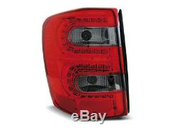 Paire feux arriere Jeep Grand Cherokee 99-05 rouge fume led